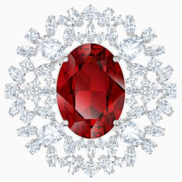 Louison Brosche, rot, Rhodiniert - Swarovski, 5495263