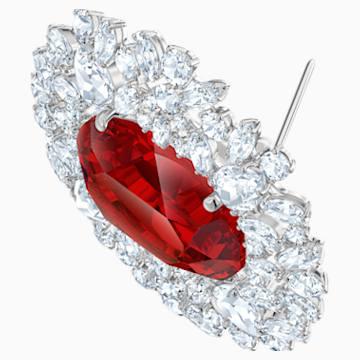 Louison 胸針, 紅色, 鍍銠 - Swarovski, 5495263