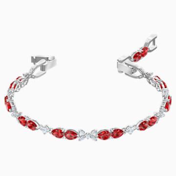Louison 手鏈, 紅色, 鍍銠 - Swarovski, 5495264