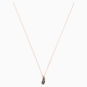 Collier Naughty, noir, Métal doré rose - Swarovski, 5495292