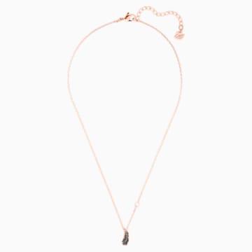 Collar Naughty, negro, Baño en tono Oro Rosa - Swarovski, 5495292