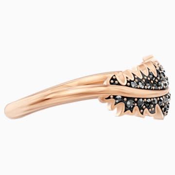 Naughty Кольцо с мотивом, Черный Кристалл, Покрытие оттенка розового золота - Swarovski, 5495296