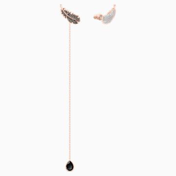 Naughty Ohrringe, schwarz, Rosé vergoldet - Swarovski, 5495373