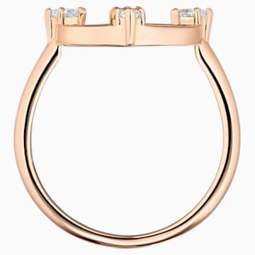 Prsten s motivem North, Bílý, Pozlacený růžovým zlatem - Swarovski, 5495776