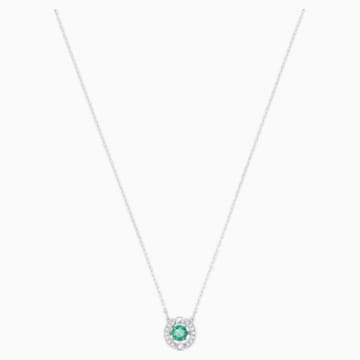 Swarovski Sparkling Dance 项链, 绿色, 镀铑 - Swarovski, 5496308