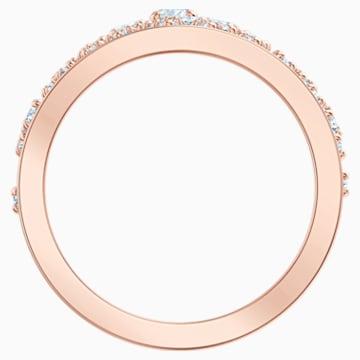 Precisely Motivring, weiss, Rosé vergoldet - Swarovski, 5496490
