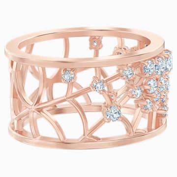 Anello con motivo Precisely, bianco, Placcato oro rosa - Swarovski, 5496490