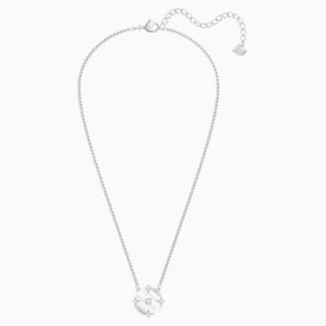 North Necklace, White, Rhodium plated - Swarovski, 5497232