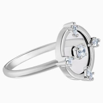 North 圖形戒指, 白色, 鍍白金色 - Swarovski, 5497233