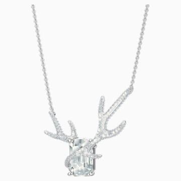 Polar Bestiary Necklace, Multi-colored, Rhodium plated - Swarovski, 5497638