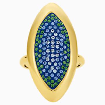 Evil Eye Ring, Large, Blue, Gold-tone plated - Swarovski, 5497641