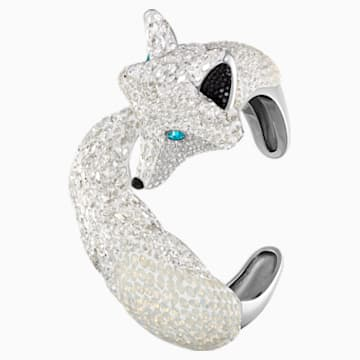 Polar Bestiary Cuff, Multi-colored, Rhodium plated - Swarovski, 5497662