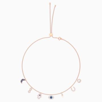 Swarovski Symbolic 项链, 彩色设计, 镀玫瑰金色调 - Swarovski, 5497664