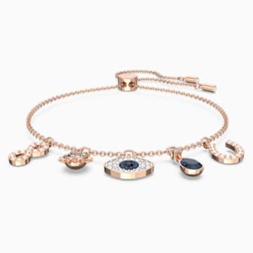 Swarovski Symbolic 手链, 彩色设计, 镀玫瑰金色调 - Swarovski, 5497668