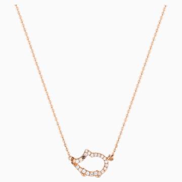 Zodiac Outline Piggy Necklace - Swarovski, 5497834