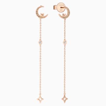 月畔之愿18K玫瑰金褐色钻石耳环饰品 - Swarovski, 5497839