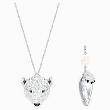 Polar Bestiary 鏈墜, 多色設計, 鍍銠 - Swarovski, 5498246