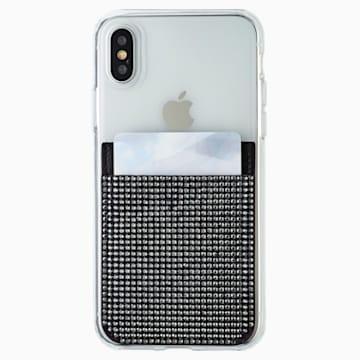 Swarovski 智能手機背貼卡套, 黑色 - Swarovski, 5498747