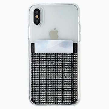 Swarovski Akıllı telefon yapışkan cebi, Siyah - Swarovski, 5498747