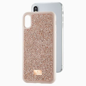Glam Rock Smartphone 套, iPhone® X/XS, 玫瑰金色調 - Swarovski, 5498749