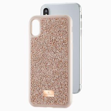 Glam Rock Smartphone 套, iPhone® X/XS, 玫瑰金色调 - Swarovski, 5498749