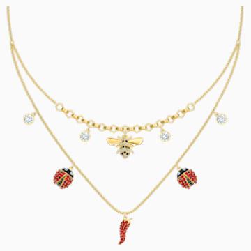 Lisabel Halskette, rot, Vergoldet - Swarovski, 5498807