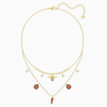 Lisabel Necklace, Red, Gold-tone plated - Swarovski, 5498807