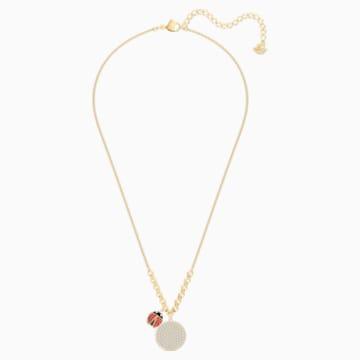 Collana Lisabel Coin, rosso, Placcato oro - Swarovski, 5498808