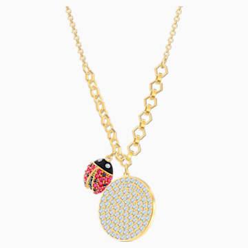 Collar Lisabel Coin, rojo, Baño en tono Oro - Swarovski, 5498808