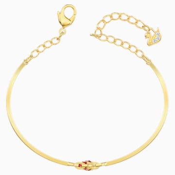 Lisabel Pepper Bangle, Red, Gold-tone plated - Swarovski, 5498810