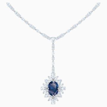 Collier en Y Palace, bleu, Métal rhodié - Swarovski, 5498812