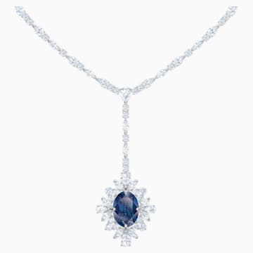 Palace Y-Halskette, blau, Rhodiniert - Swarovski, 5498812