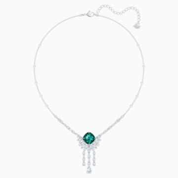 Palace Necklace, Green, Rhodium plated - Swarovski, 5498815