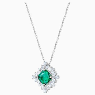 Palace Necklace, Green, Rhodium plated - Swarovski, 5498832