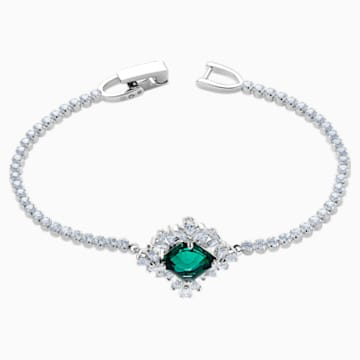 Palace Bracelet, Green, Rhodium plated - Swarovski, 5498835