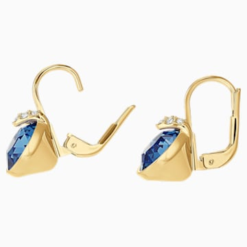 Vpichovací náušnice Bella V, Modré, Pozlacené - Swarovski, 5498875