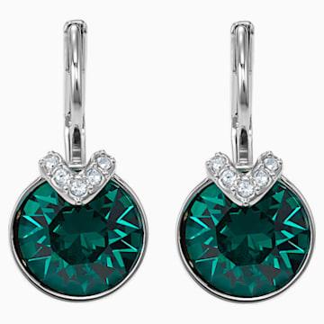 Boucles d'oreilles Bella V, vert, Métal rhodié - Swarovski, 5498876