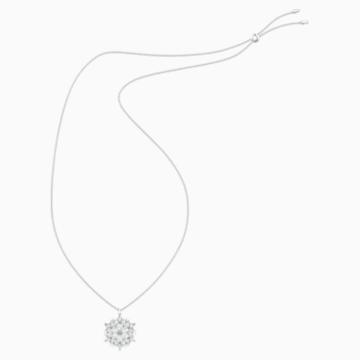 Magic Snow Pendant, White, Rhodium plated - Swarovski, 5498960