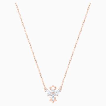 Collar Magic Angel, blanco, Baño en tono Oro Rosa - Swarovski, 5498966
