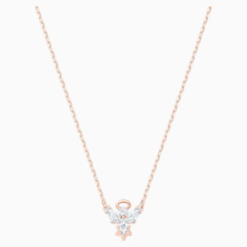 Magic Angel 项链, 白色, 镀玫瑰金色调 - Swarovski, 5498966