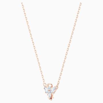 Magic Angel 項鏈, 白色, 鍍玫瑰金色調 - Swarovski, 5498966