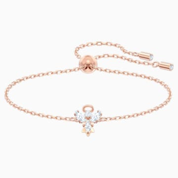 Magic Angel Bracelet, White, Rose-gold tone plated - Swarovski, 5498974