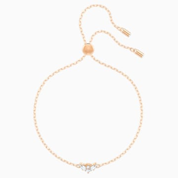 Magic Angel Bracelet, White, Rose-gold tone plated - Swarovski, 5498974