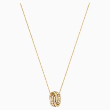 Collar Further, blanco, Baño en tono Oro - Swarovski, 5498997