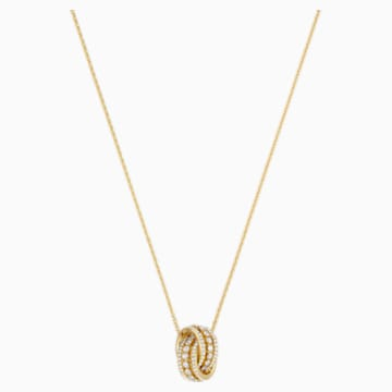Further 项链, 白色, 镀金色调 - Swarovski, 5498997