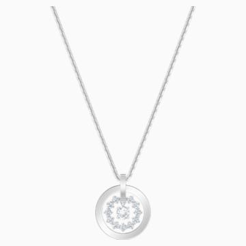 Collier Further, blanc, Métal rhodié - Swarovski, 5499001