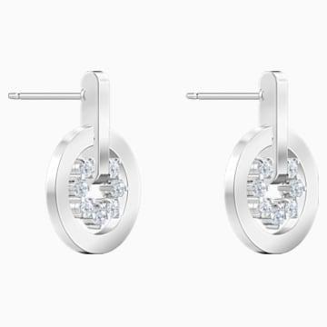 Further Серьги с подвесками, Белый Кристалл, Родиевое покрытие - Swarovski, 5499002