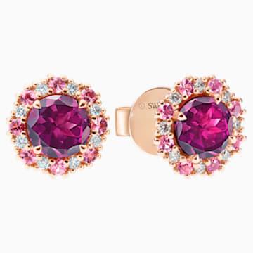 心之绽放18K玫瑰金紫紅色石榴石粉红碧玺钻石耳环 - Swarovski, 5499790