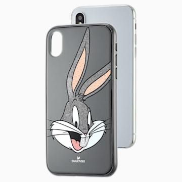 Funda para smartphone Looney Tunes Bugs Bunny, iPhone® X/XS, gris - Swarovski, 5499822