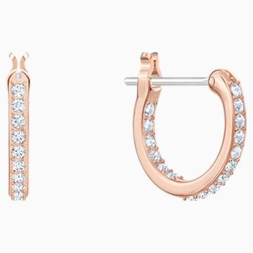 Orecchini chandelier Precisely, bianco, Placcato oro rosa - Swarovski, 5499889